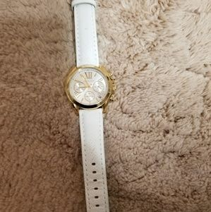 Michael kors watch with white leather